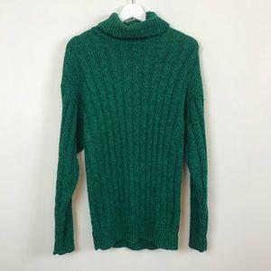 Vintage Kelly Green Turtleneck Sweater